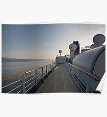 The Promenade Deck on Ms Oosterdam heading south from Alaska Poster