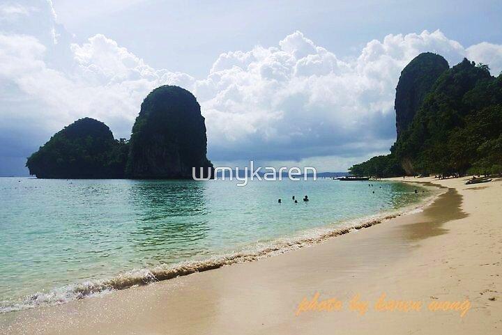 Tropical Beach by wmykaren