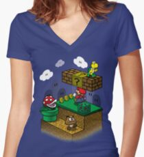 Through the stage Women's Fitted V-Neck T-Shirt