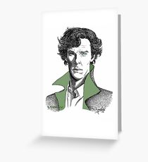 The Sherlock Variations (Green) Greeting Card