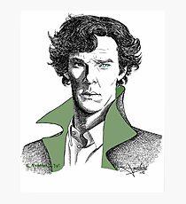 The Sherlock Variations (Green) Photographic Print