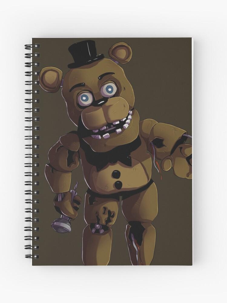 FNAF 2 Withered Freddy Fazbear   Spiral Notebook