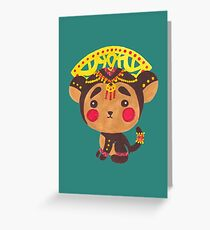 The Little Monkey King Greeting Card