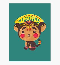 The Little Monkey King Photographic Print