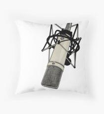 Neumann U87 Microphone Throw Pillow