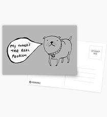 Staffies Aren't Evil Postcards