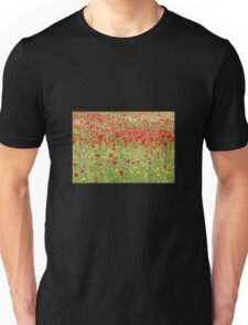 Meadow With Beautiful Bright Red Poppy Flowers T-Shirt