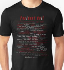 Resident Evil Quotes Unisex T-Shirt