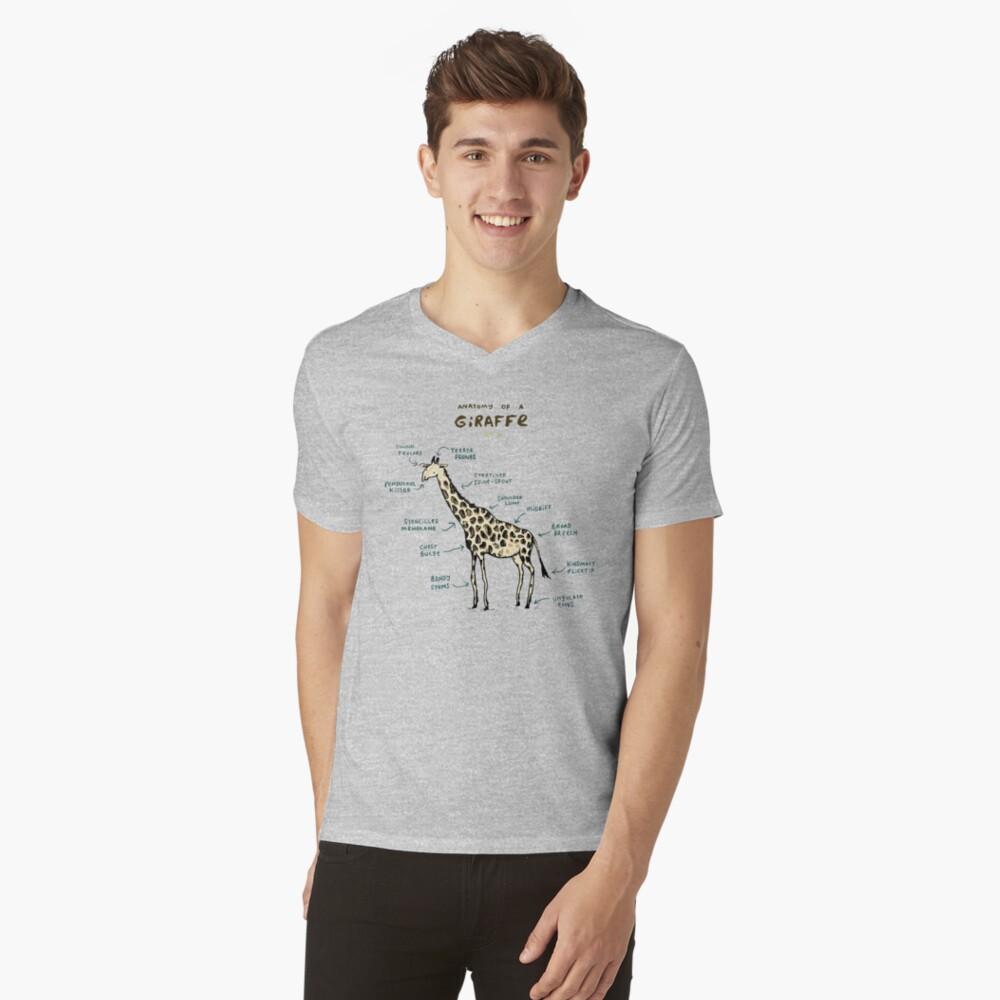 Anatomía de una jirafa Camiseta de cuello en V