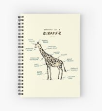 Anatomy of a Giraffe Spiral Notebook