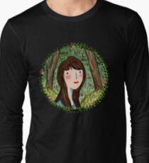 Self Portrait in Woodland Long Sleeve T-Shirt