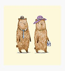 Bear Couple Photographic Print