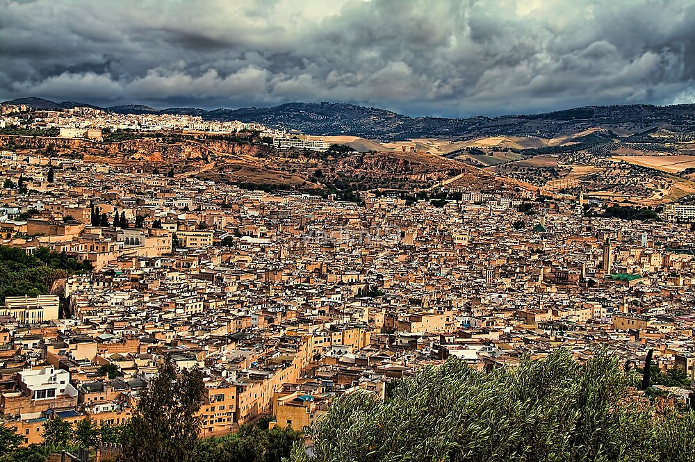 Morocco. Fes. Panoramic view. by vadim19