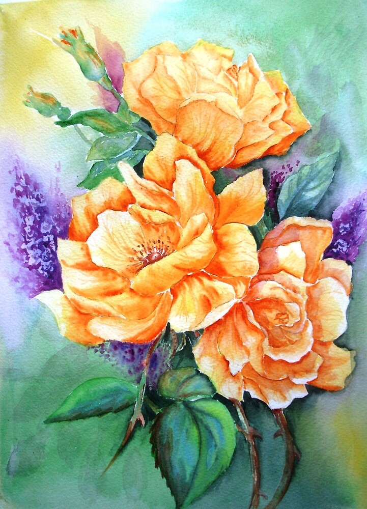 Yellow Roses by patty123