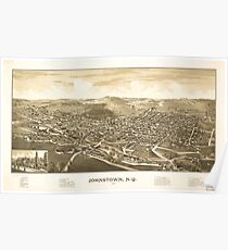 Panoramic Maps Johnstown NY 1888 Poster