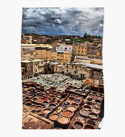 Morocco. Fes. Fes el Bali. Tanneries. Poster