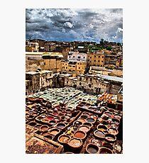 Morocco. Fes. Fes el Bali. Tanneries. Photographic Print