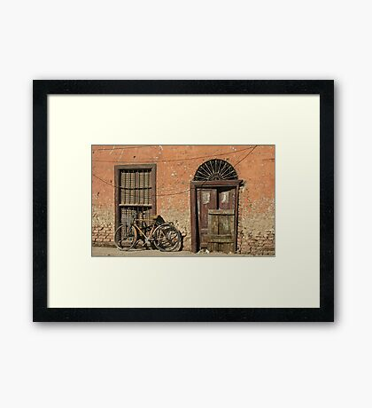 In the Streets of Aswan Framed Print