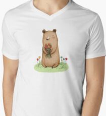 Bear Bouquet Men's V-Neck T-Shirt