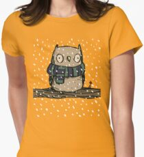 Chilly Owl Womens Fitted T-Shirt