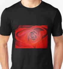 Heart Shaped Valentine Red Rose Unisex T-Shirt