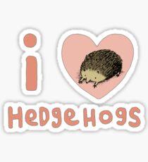 I ❤ Hedgehogs Sticker