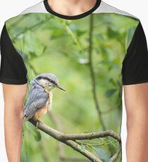 Nuthatch (Sitta europaea)  Graphic T-Shirt