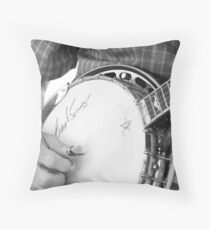 Earl Scruggs Autographed Banjo Throw Pillow
