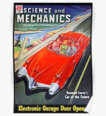 Science and Mechanics Magazine Cover August 1950 (PD) Poster