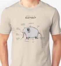 Anatomie eines Elefanten Unisex T-Shirt