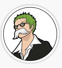 Zoro Mustache Sticker