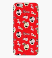 Zombie Cartoon Case - Red iPhone-Hülle & Cover