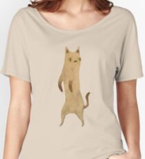Standing Cat Women's Relaxed Fit T-Shirt