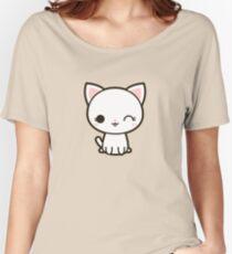 Kawaii white cat Women's Relaxed Fit T-Shirt
