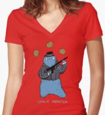 Cookie Mobster Women's Fitted V-Neck T-Shirt
