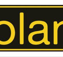 Roland Yellow Black Sticker