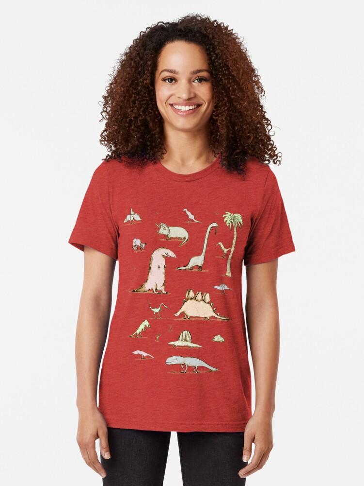 Alternate view of Dinosaurs Tri-blend T-Shirt