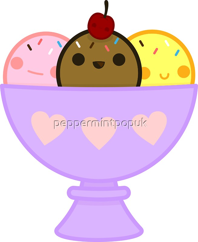 Quot Kawaii Ice Cream Quot Stickers By Peppermintpopuk Redbubble