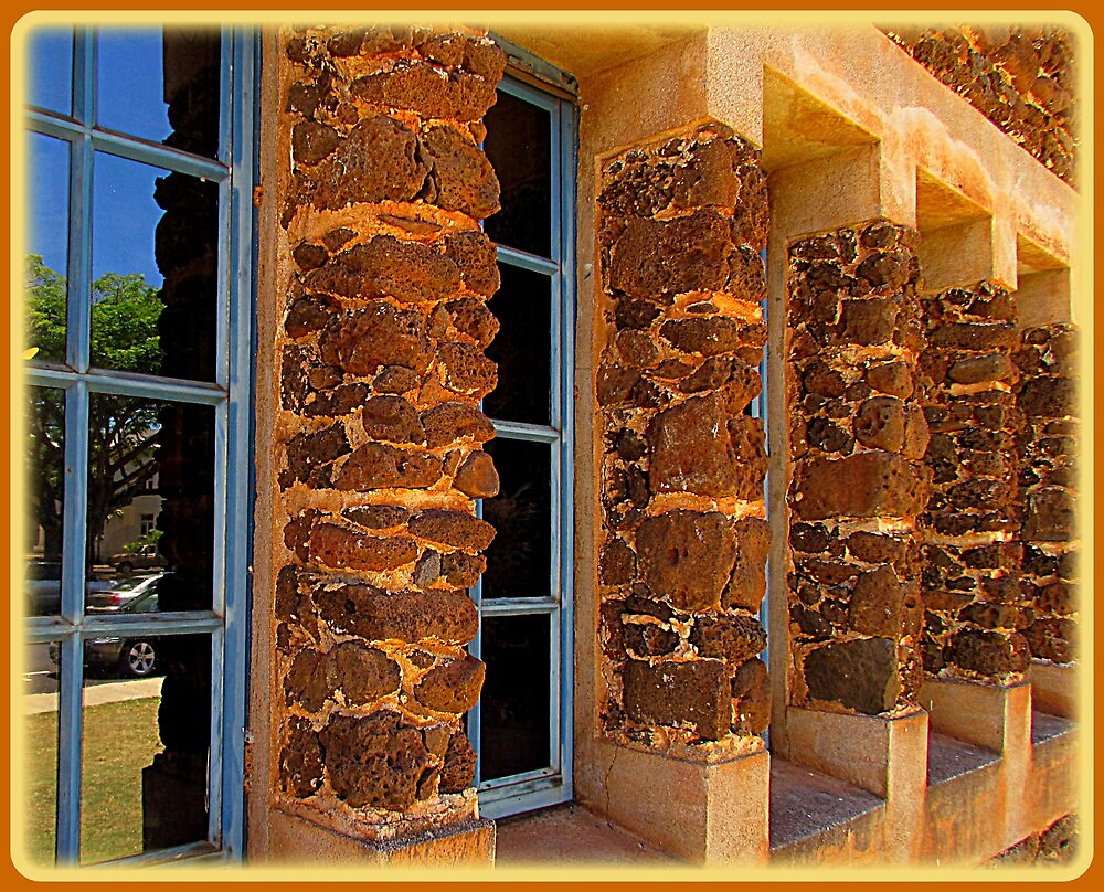 Lava Rocks and Window Panes by Gary  Oertel