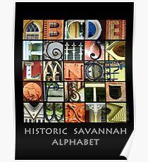 Historic Savannah Alphabet Poster