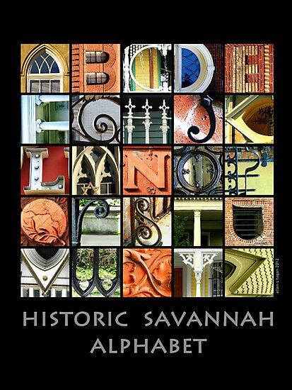 Historic Savannah Alphabet by Ellen  Hagan
