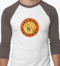 Island Hoppers /orange Men's Baseball ¾ T-Shirt