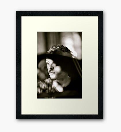 B&W . Aleksander. Framed Print