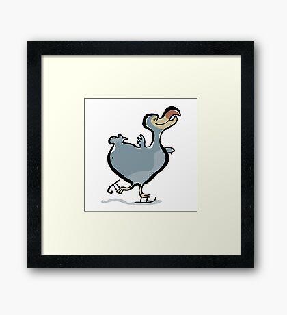 the ice skating dodo Framed Print