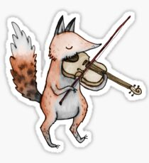 Violin Fox Sticker
