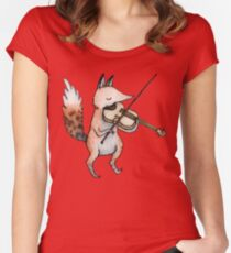 Violin Fox Women's Fitted Scoop T-Shirt