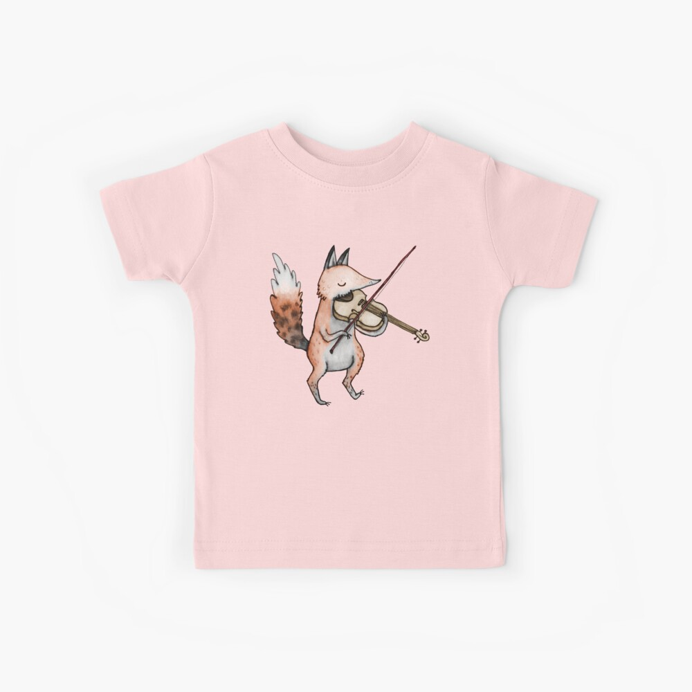 Violín Fox Camiseta para niños