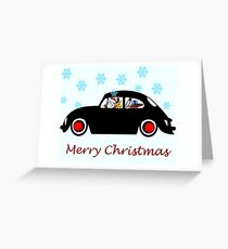Santa Beetle Greeting Card
