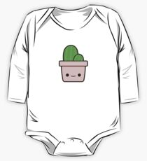 Cactus in cute pot One Piece - Long Sleeve