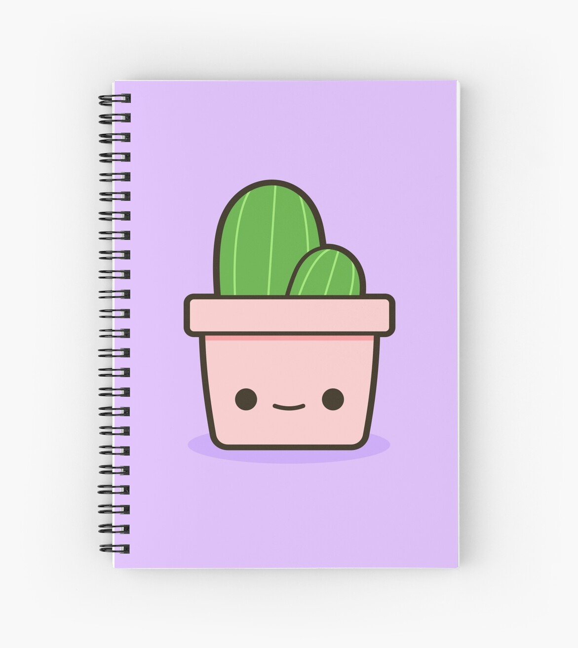 Home Wall Decor Stickers Quot Cactus In Cute Pot Quot Spiral Notebooks By Peppermintpopuk
